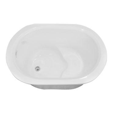 100cm小圓雙層壓克力獨立式浴缸超低價引進,在家spa專用 BA1003