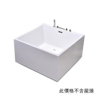 130cm方形雙人浴缸最具現代感雙層壓克力結構高效保溫,在家SPA專用高性價比 BA13D0