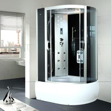 乾濕分離淋浴艙120x80豪華型整體淋浴房,電腦控制頂噴側噴椅座腳療LED燈高底缸頂蓋可加裝蒸汽spa BS1280
