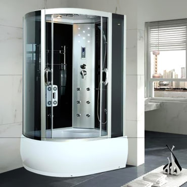 乾濕分離淋浴艙120x80豪華型整體淋浴房,電腦控制頂噴側噴椅座腳療LED燈高底缸頂蓋可加裝蒸汽spa BS1282