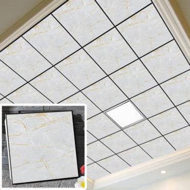 一坪36片百度空間集成吊頂鋁合金天花板拼裝組合式天花板廚房客廳浴室室內設計裝潢防霉防潮抗油汙(無電燈風扇) EC2382