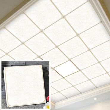 一坪36片冰清玉潤集成吊頂鋁合金天花板拼裝組合式天花板廚房客廳浴室室內設計裝潢防霉防潮抗油汙(無電燈風扇) EC2383