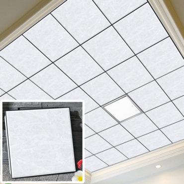 一坪36片黑邊水泥砂岩集成吊頂鋁合金天花板拼裝組合式天花板廚房客廳浴室室內設計裝潢防霉防潮抗油汙(無電燈風扇) EC2384