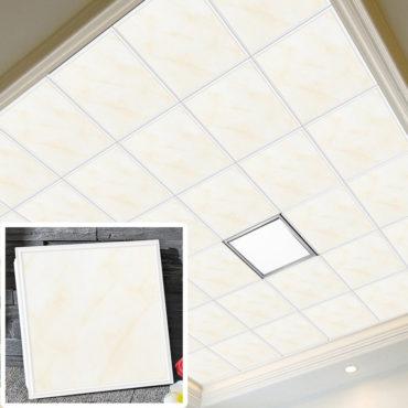 一坪36片和田玉集成吊頂鋁合金天花板拼裝組合式天花板廚房客廳浴室室內設計裝潢防霉防潮抗油汙(無電燈風扇) EC2385