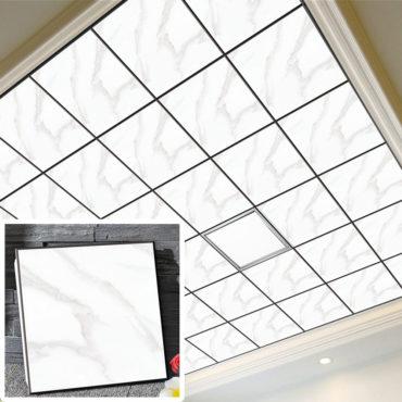 一坪36片黑雲石集成吊頂鋁合金天花板拼裝組合式天花板廚房客廳浴室室內設計裝潢防霉防潮抗油汙(無電燈風扇) EC2386