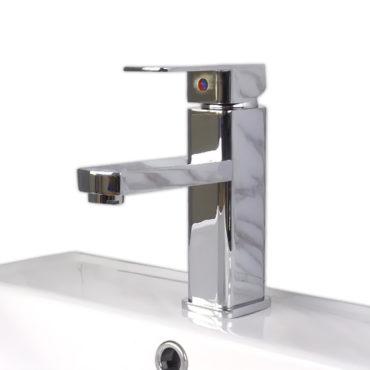 17cm台面方柱標準面盆用冷熱水混合龍頭,陶瓷閥心,DIY安裝模式裝卸容易,勿使用矽利康 FS1171