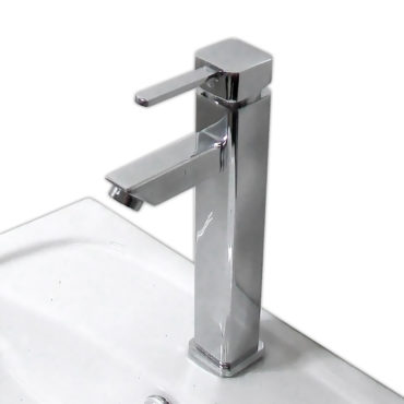 30cm高方柱新款單孔龍頭,面盆用冷熱水混合龍頭,DIY安裝模式裝卸容易,請勿使用矽利康 FS1373