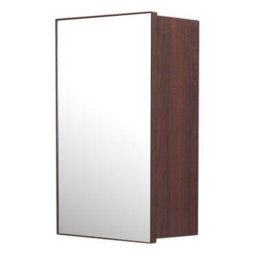 鋁合金烏木紋浴室鏡櫃,防火防水不生鏽,34x54cm牆掛式鏡櫃。含收納空間,收納方便。 MN7331