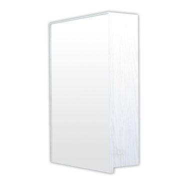 鋁合金水曲柳木紋浴室鏡櫃,防火防水不生鏽,50x70cm牆掛式鏡櫃。含小物收納空間方便。 MQ5070