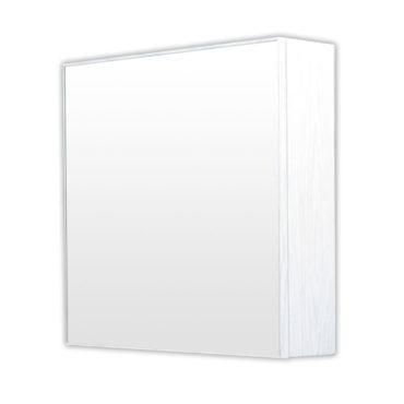 鋁合金水曲柳木紋浴室鏡櫃,防火防水不生鏽,55x65cm牆掛式鏡櫃。含小物收納空間方便。 MQ6555