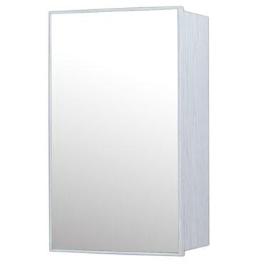 鋁合金水曲柳木紋浴室鏡櫃,防火防水不生鏽,34x54cm牆掛式鏡櫃。含小物收納空間方便 MQ7331