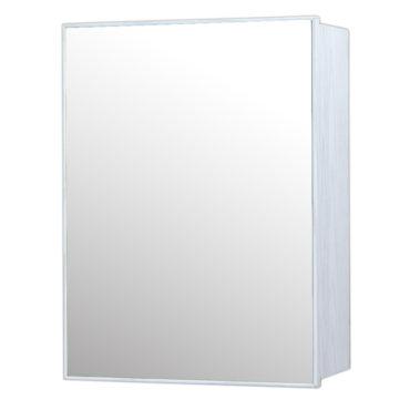 鋁合金水曲柳木紋浴室鏡櫃,防火防水不生鏽,40x54cm牆掛式鏡櫃。含小物收納空間方便。 MQ7341