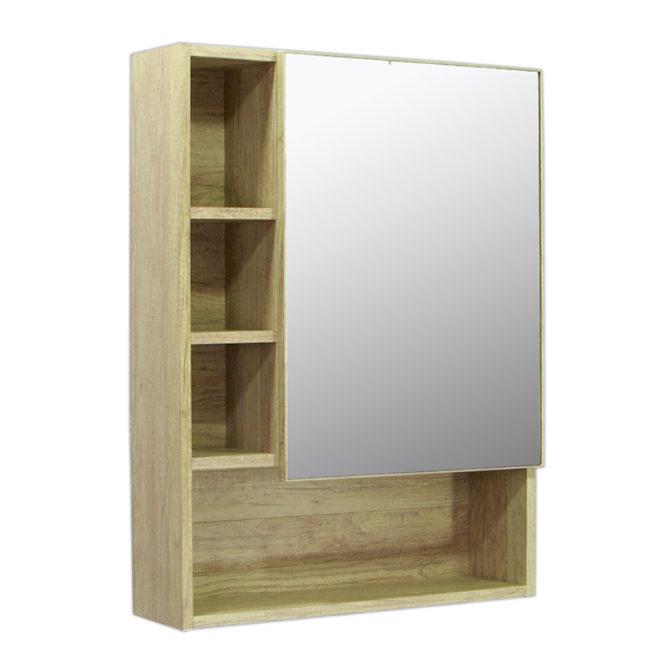 鋁合金原木紋浴室鏡櫃,防火防水不生鏽,60x80cm牆掛式鏡櫃。含收納空間。 MR6080
