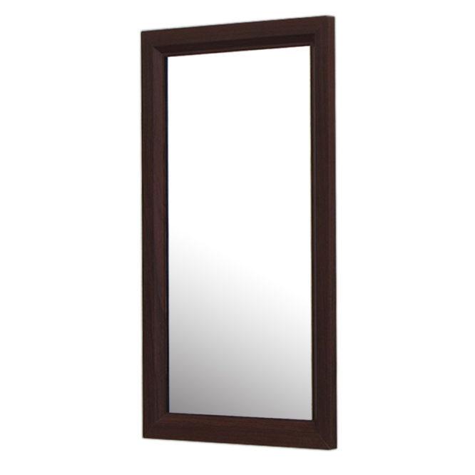 烏木紋質感細框單鏡,鋁框包覆鏡面不易氧化,34x54cm防水耐用易清潔 MS733N