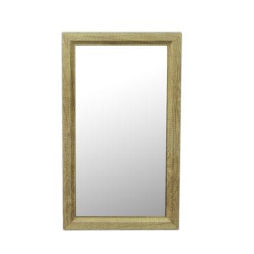 原木紋質感細框單鏡,鋁框包覆鏡面不易氧化,34x54cm防水耐用易清潔 MS733R