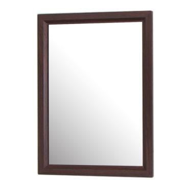 烏木紋質感細框單鏡,鋁框包覆鏡面不易氧化,40x54cm防水耐用易清潔 MS734N