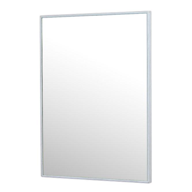水曲柳木紋質感細框單鏡,鋁框包覆鏡面不易氧化,40x54cm防水耐用易清潔 MS734Q