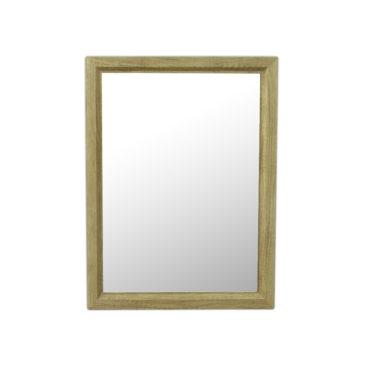 原木紋質感細框單鏡,鋁框包覆鏡面不易氧化,40x54cm防水耐用易清潔 MS734R