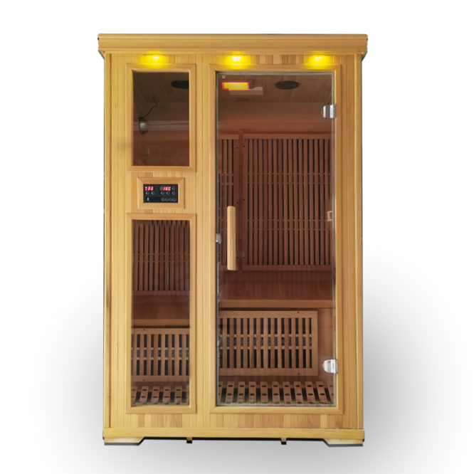 120x100cm雙人用遠紅外線汗蒸房 5年保固 烤箱 桑拿房 能量屋 加速血液循環 舒緩減壓 安裝簡易適合家用 QX60B0