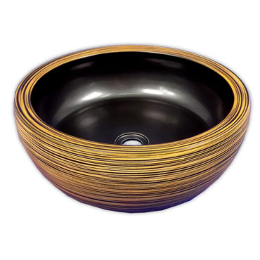 415x415京唐燒,來自景德鎮,黑黃拉胚圓形藝術盆,五大古窯源遠流長,歐美新流行 SL37L0