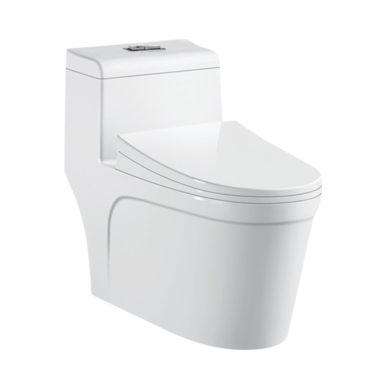虹吸式單體馬桶書香二代 包含水箱配件、緩降馬桶蓋(地排30cm) TO7230