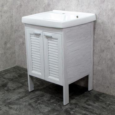 Laundry60洗衣槽盆櫃全鋁合金全新上市落地款盆櫃安裝快速簡易陽台洗衣間最適配婆媳關係催化劑 VP8561