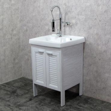 Laundry60洗衣槽盆櫃全鋁合金全新上市落地款盆櫃安裝快速簡易陽台洗衣間最適配婆媳關係催化劑 VP8563