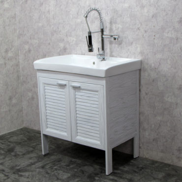 Laundry80洗衣槽盆櫃全鋁合金全新上市落地款盆櫃安裝快速簡易陽台洗衣間最適配婆媳關係催化劑 VP8583