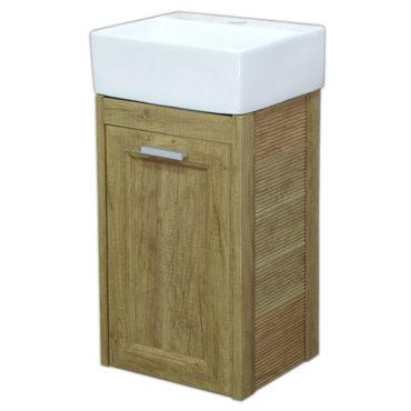 方形洗手盆櫃3D全鋁原木紋浴櫃陽台小浴室輕隔間專用全防水環保材質貨櫃屋樓中樓可用 VR7301