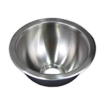 24cm直徑不鏽鋼304單槽壓鑄廚房水槽,ABS下水零件,居家裝潢翻新,簡易安裝,耐用易清 WS2240
