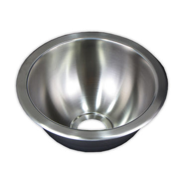 24cm直徑不鏽鋼304單槽壓鑄廚房水槽,金屬下水零件,居家裝潢翻新,簡易安裝,耐用易清 WS2241